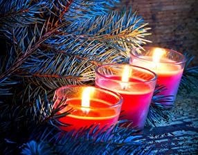 Hintergrundbilder Neujahr Feiertage Kerzen Ast Drei 3