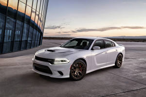 Pictures Dodge Tuning White Metallic 2015 Charger SRT Hellcat Cars