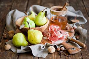 Wallpaper Pears Ham Nuts Still-life Jar