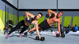 Wallpapers Man Fitness 2 Dumbbell Workout Sport Girls
