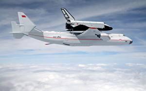 Hintergrundbilder Flugzeuge Himmel Transportflugzeuge Wolke Buran Antonov An-225 Mriya