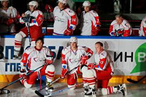 Picture Hockey Man Helmet Uniform Alexander Ovechkin