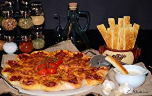 Hintergrundbilder Fast food Pizza Gewürze Tomate Lebensmittel