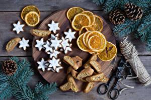 Bilder Backware Kekse Zitrone Ast Zapfen Lebensmittel