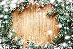 Fotos Feiertage Neujahr Ast Lichterkette