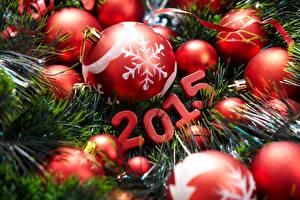 Fotos Feiertage Neujahr 2015 Ast Kugeln