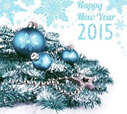 Hintergrundbilder Feiertage Neujahr 2015 Ast Kugeln