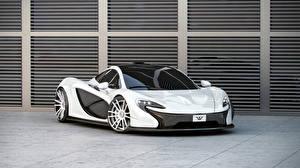 Sfondi desktop McLaren Tuning Bianco Metallico 2014 P1 (Wheelsandmore) automobile