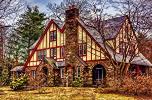 Fotos USA Haus Design Eigenheim HDRI American Tudor Städte