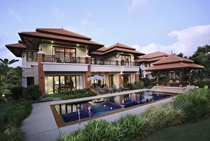 Sfondi desktop Thailandia La casa Mansion Piscine Phuket Città