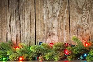 Bilder Feiertage Neujahr Ast Lichterkette