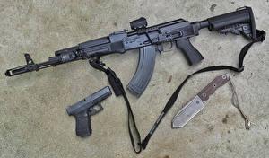 Image Pistol Knife Assault rifle Army