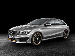 Wallpaper Mercedes-Benz Tuning Silver color 2014 CLA 250 4Matic Shooting Brake auto