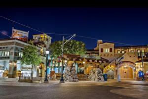 Bilder USA Disneyland Park Haus HDR Kalifornien Anaheim Design Nacht Städte