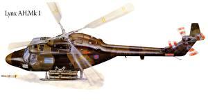 Bilder Hubschrauber Gezeichnet Lynx AH.Mk 1 Luftfahrt