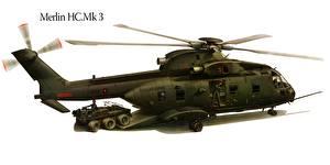 Hintergrundbilder Hubschrauber Gezeichnet Merlin HC.Mk 3 Luftfahrt