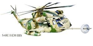 Fotos Hubschrauber Gezeichnet S-65C-3 (CH-53D) Luftfahrt