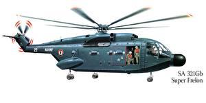 Bilder Hubschrauber Gezeichnet SA-321Gb Super Frelon Luftfahrt