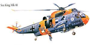 Hintergrundbilder Hubschrauber Gezeichnet Sea King Mk 41 Luftfahrt