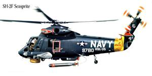 Bilder Hubschrauber Gezeichnet SH-2F Seasprite Luftfahrt