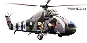 Bilder Hubschrauber Gezeichnet Wessex HC.Mk 2 Luftfahrt