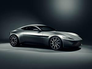 Bilder Aston Martin Graues 2014 DB10 automobil