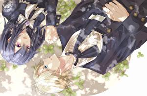 Wallpapers Two Uniform Guys kaichou wa maid sama, ayuzawa misaki, usui takumi Anime Girls