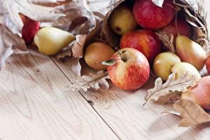 Wallpapers Apples Pears Leaf
