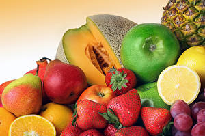 Picture Fruit Apples Pears Melons Strawberry