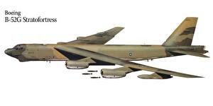Fotos Flugzeuge Gezeichnet Boeing Boeing B-52G Stratofortress