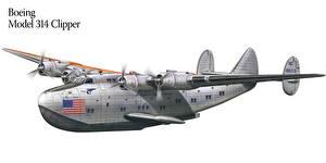 Bilder Flugzeuge Gezeichnet Boeing Boeing Model 314 Clipper