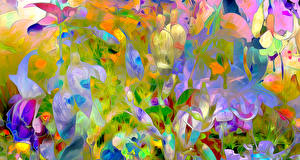 Fotos 3D-Grafik Blumen