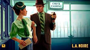 Tapety na pulpit L.A. Noire Mężczyzna Kapelusz Garnitur Dziewczyny