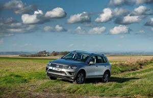 Fotos Volkswagen Landschaftsfotografie Himmel Grau 2014 Touareg SE auto