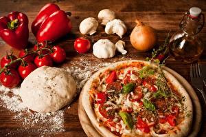 Bilder Pizza Tomaten Zwiebel Knoblauch Paprika Lebensmittel