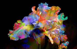 Hintergrundbilder 3D-Grafik Blumen