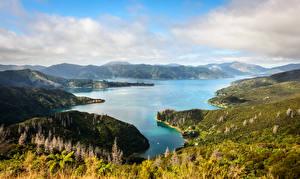 Photo New Zealand Mountains Lake Landscape photography Marlborough Nature