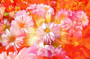 Hintergrundbilder Blüte 3D-Grafik