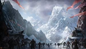 Bakgrunnsbilder Ork Monstrum Fjell Ringenes herre Ringenes herre: Ringens brorskap Fantasy