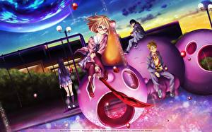 Tapety na pulpit Młody człowiek Uczennice Uniform kyoukai no kanata, kanbara akihito, kuriyama mirai,nase hiroomi, nase mitsuki Anime Dziewczyny