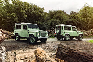 Picture Range Rover 2 Lime color Defender 90  Heritage automobile