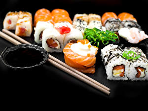 Picture Seafoods Sushi Chopsticks Food