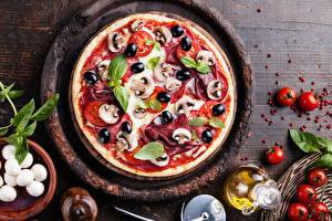 Hintergrundbilder Fast food Pizza Pilze Tomate Lebensmittel