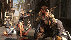 Wallpaper Assassin's Creed Assassin's Creed 3 Soldiers Men Blood  3D_Graphics