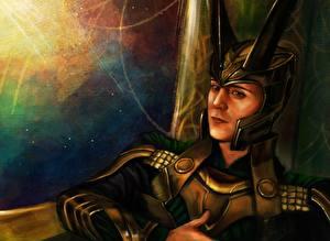 Wallpaper Thor Tom Hiddleston Man Helmet Celebrities