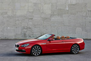 Wallpapers BMW Dark red Cabriolet Metallic 2015 M6 Cars