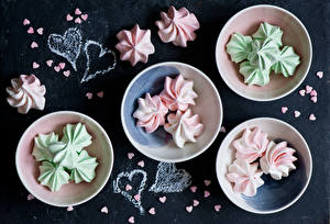 Fotos Süßigkeiten Zefir Herz