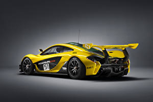 Sfondi desktop McLaren Tuning Giallo Vista posteriore 2015 P1 GTR Auto