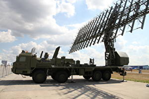 Wallpaper Military vehicle Missile launchers Radar station 55ZH6ME