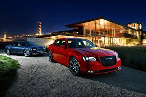 Image Chrysler 2 Wine color Metallic 2015 300 C auto